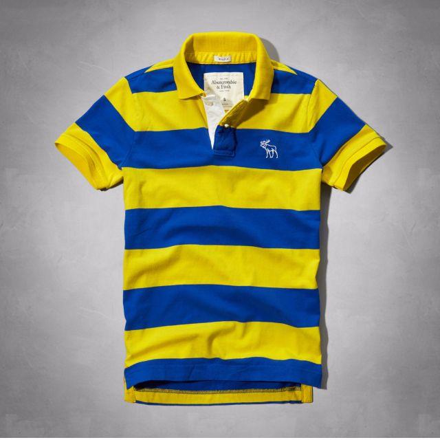 降價↓A&F、AF 頂級棉料撞色logo Polo衫! s號、絕對正品