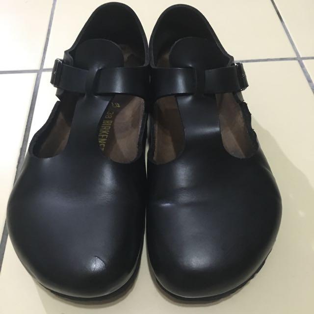 (保留)正品勃肯真皮休閒鞋Birkenstock