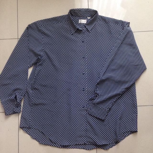 Blue Polkadot Shirt