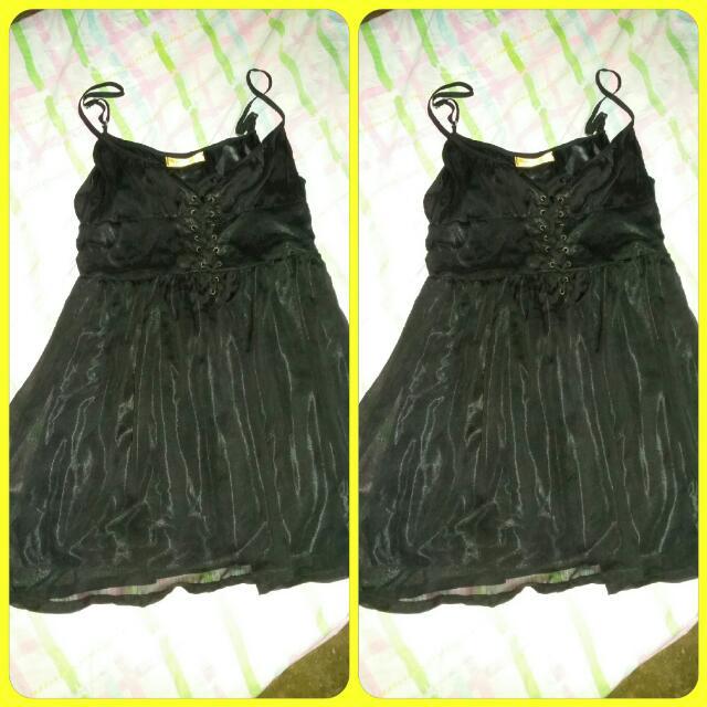 👒👒Reserved👒👒chiffon black dress