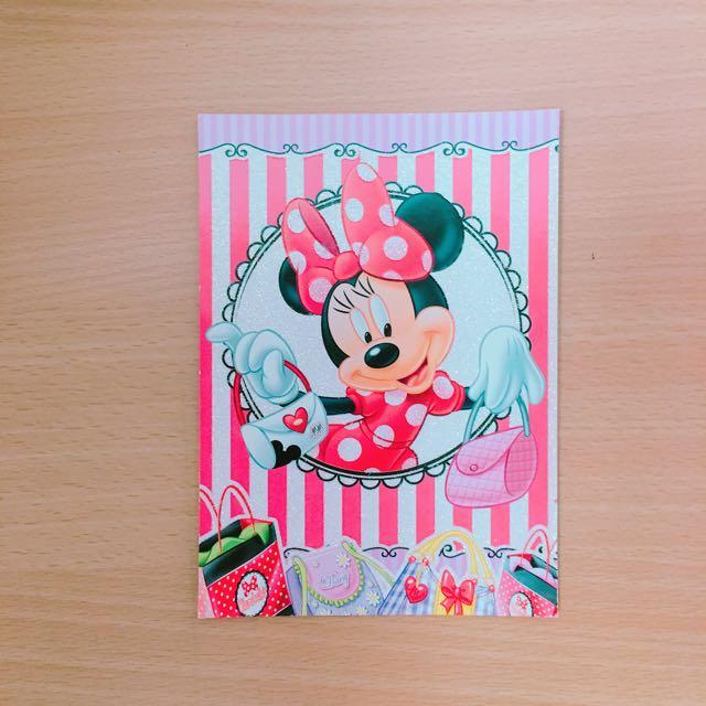 芬蘭帶回米妮明信片Disney Minnie Mouse
