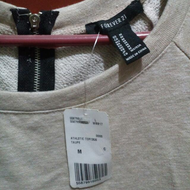 F21 Taupe Athletic Top