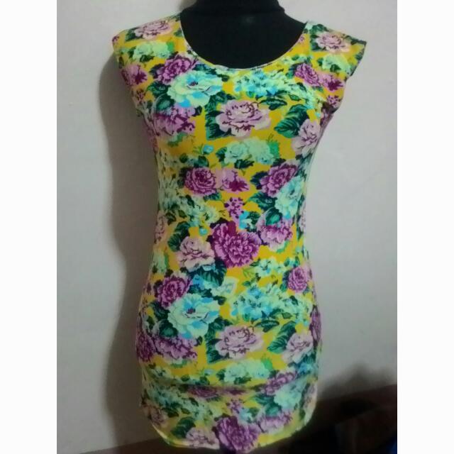 Floral Spandex Dress