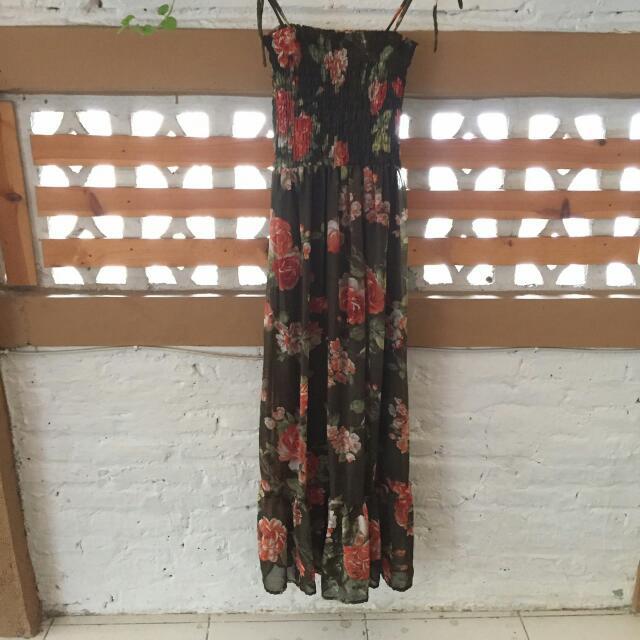 Reprice!!!  Flower Long Dress