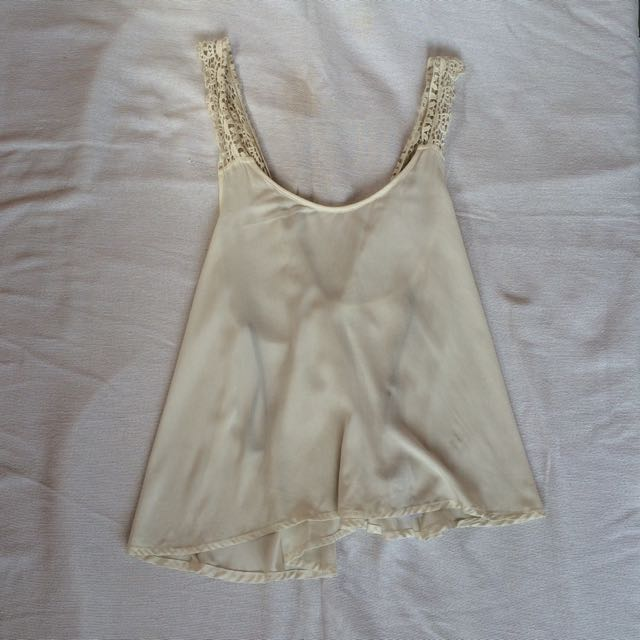 FOREVER 21 White Lowbacj Blouse