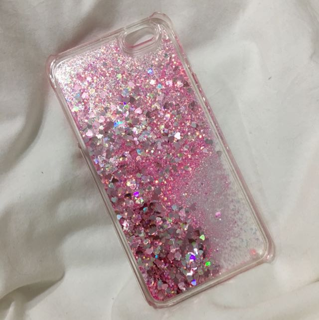 iPhone 6s Plus - Forever New Pink Hearts With Sparkles And Water