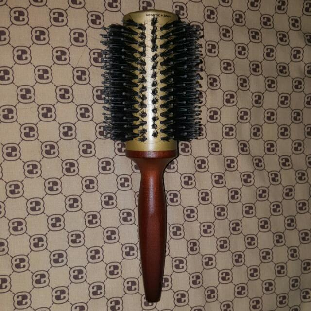 Goody Smooth Blends Brush Brown Natural Boar Bristle Round Ceramic Infused
