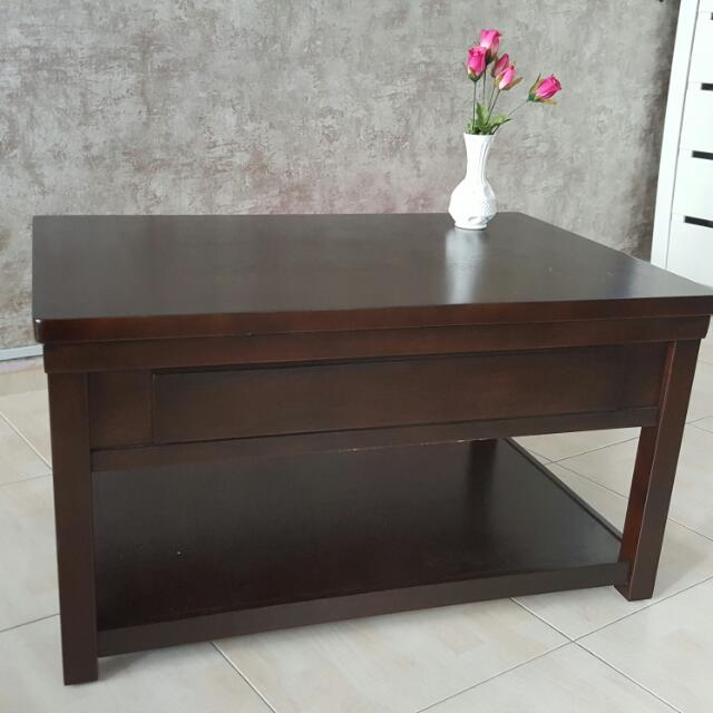 SALE! Hactsuho Convertible (Height) Designer Coffee Table with hidden rollers