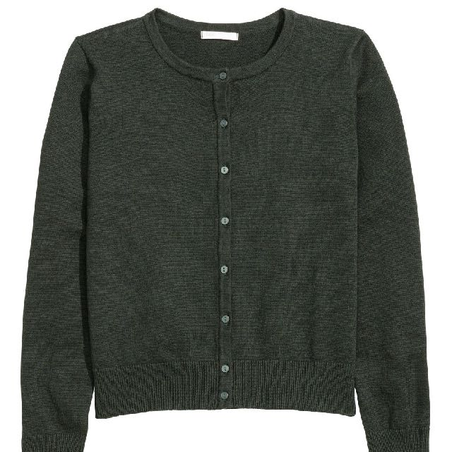H&M 針織外套 深綠