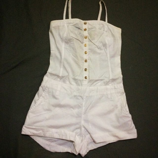 H&M White Jumpshort