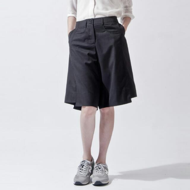 Iohll 黑色造型褲裙 褲子 寬褲