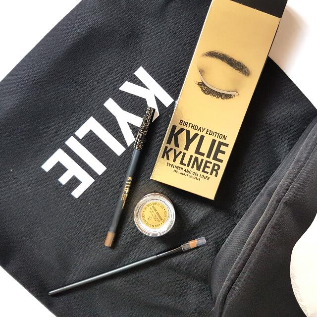 Kylie Kyliner Eyeliner and Gel Liner in Dark Bronze, WITH BRUSH {BIRTHDAY EDITION}