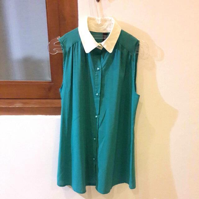 Long Tosca Shirt W/heart Button