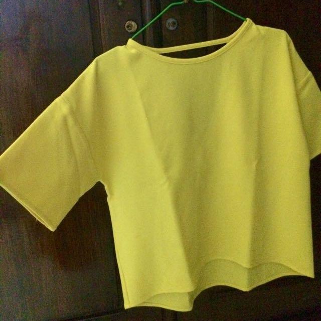 Love,bonito Yellow Top