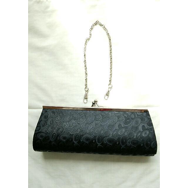 Mini Black Clutch Bag