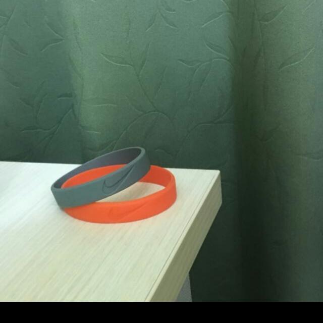 Nike 手環(橘色/灰色)
