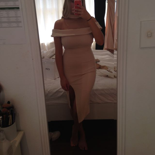 Nude Dress From Showpo