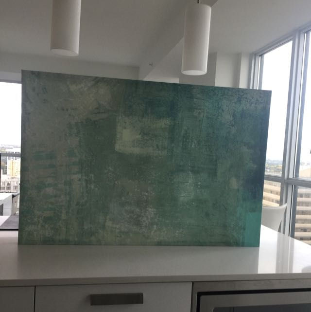 Modern Painting In Shades Of Aqua