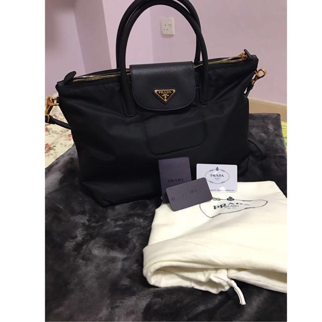 ... promo code for prada bn2541 tessuto saffiano tote bag original luxury  bags wallets on carousell 7960b 94308e25ef851