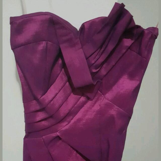 Purple/pink Formal Boobtube Dress