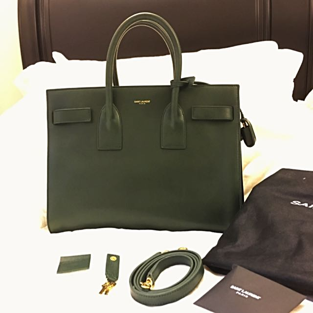 03c451cf726 Saint Laurent Small Sac Du Jour In Forest Green - Brand New!, Luxury ...