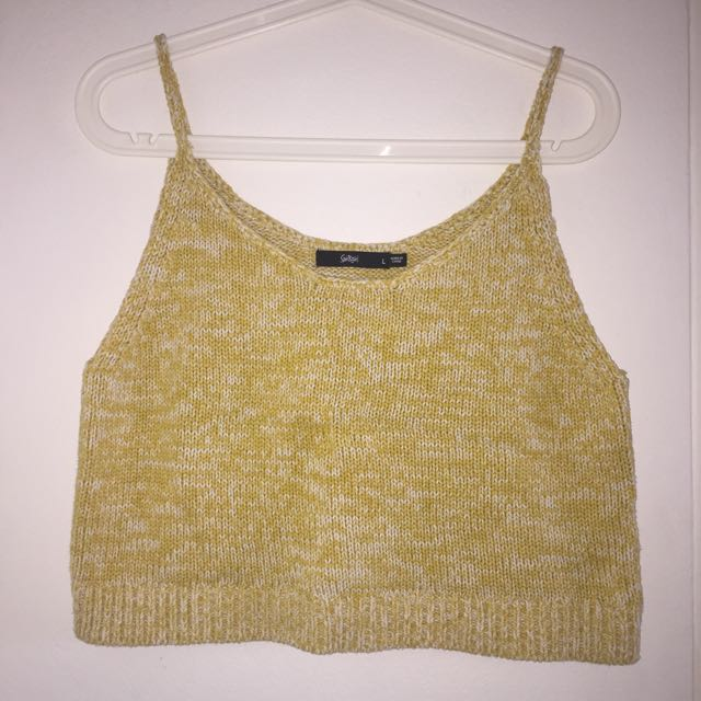 Sportsgirl Knit Crop Large
