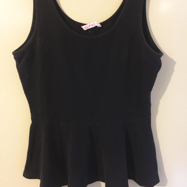 Supre Black Peplum Top