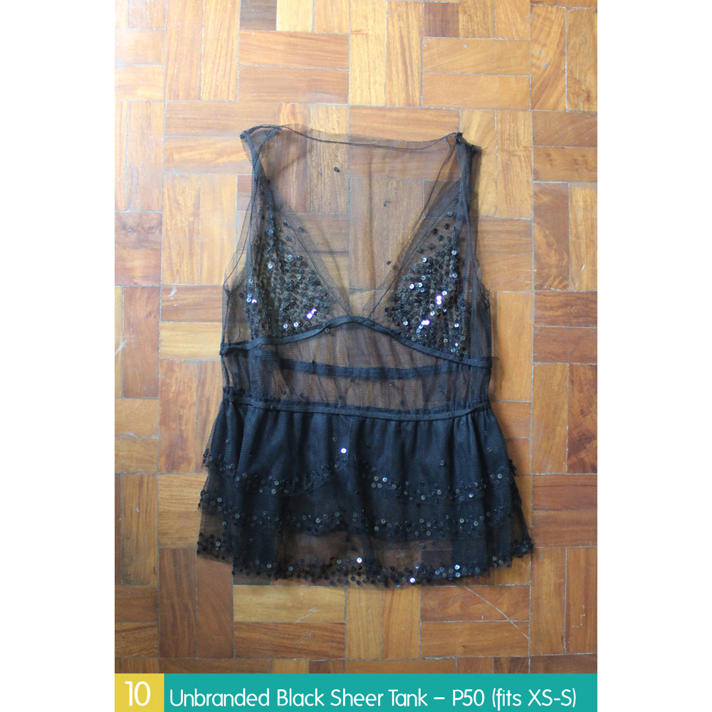 Unbranded Black Sheer Tank – P50 (fits XS-S)