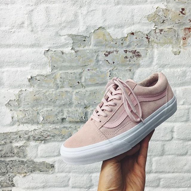 0556fe68e2 SOLD OUT  Vans Old Skool Suede Woven Pink Peachskin   Grey