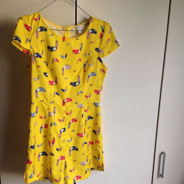 YELLOW TOUCAN PLAYSUIT