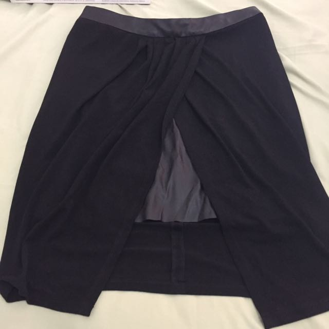 Zara Black Skirt Leather Inner Size M