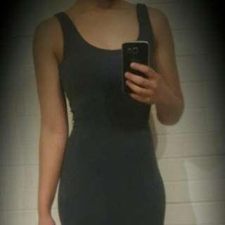 Grey Glamazon Knee Length Dress