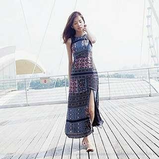 Tcl Savannah Scarf Maxi Dress Size M