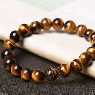 **IN-Stock Promotion** Natural 5A Grade Yellow Tiger Eyes Bracelet 天然5A虎眼石手链