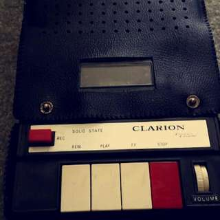 Vintage Clarion Cassette Recorder And Player