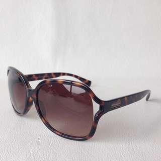 coach 玳瑁色鏡框 漸層 太陽眼鏡