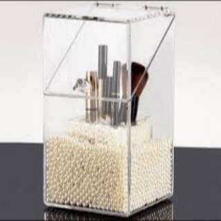 2PC ACRYLIC MAKEUP BRUSH STAND ORGANISER