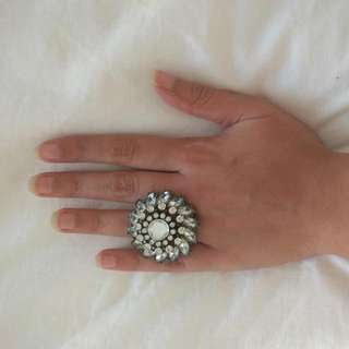 Forever 21 Flower Diamond Ring