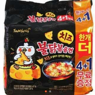 現貨 韓國 起司辣雞麵 韓國熱賣 境內版 5入