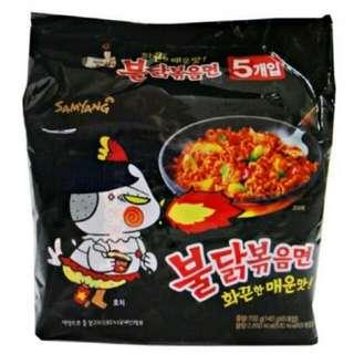 運費我來出現貨 韓國 三養火辣雞肉炒麵 全球最辣泡麵TOP2麻辣 泡麵乾麵 140g/單包 一包5入