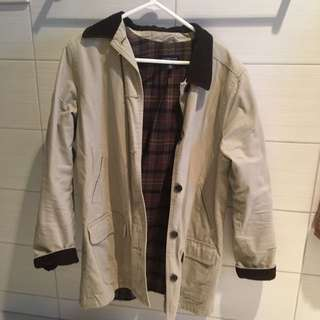 Vintage Jacket, With Sued Collar And Sleeves