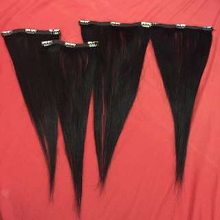 Black Extensions 100%human Hair