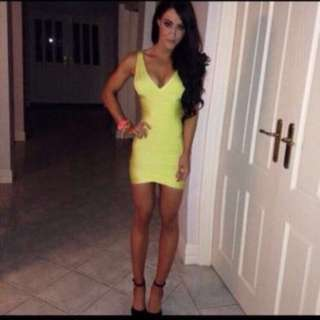 Lime Green Bandage Dress From Maddie And Belle