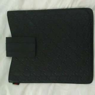 Auth Gucci Guccissima Leather Ipad Cover
