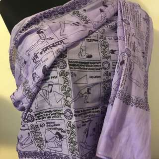 Brand New Shawl. Yoga Postures Are Printed.