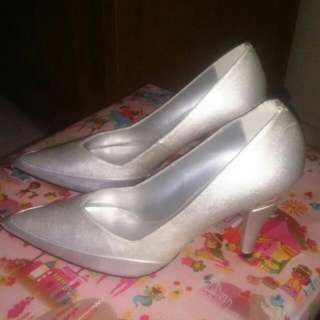 Silver Shoes Charles And Keith