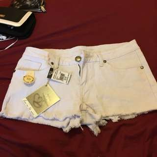 Ice White Shorts