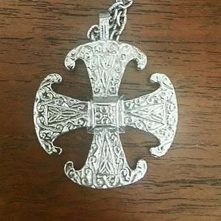 BN Silver Cross With Chain