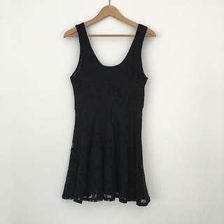 Black Lace Topshop Party Dress