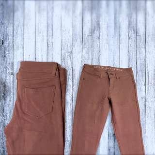 cotton khaki jeggings